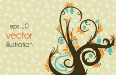 Clean Abstract Tree Vector Illustration 06