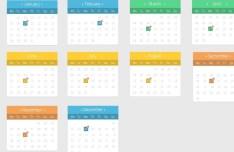 Flat Full Calendar Design PSD