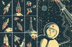 Retro Aeronautics and Astronautics Illustrations