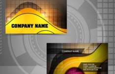 Bright HI-Tech Business Card Templates Vector 01