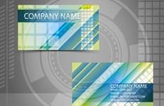 Bright HI-Tech Business Card Templates Vector 04