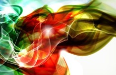 Gorgeous Abstract Smoke Background Vector 01
