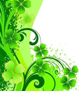 Green Summer Plants Background Vector 02