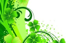 Green Summer Plants Background Vector 02