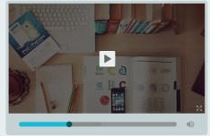 Simple Flat Designed Video Player UI PSD