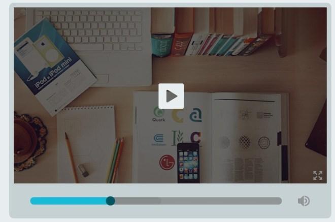 Simple Flat Designed Video Player UI PSD
