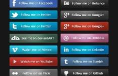 20+ Sleek Social Media Follow Buttons
