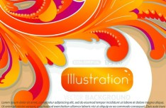 Colorful Flourish Floral Background Vector