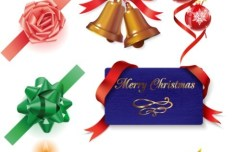 Set Of Vector Elegant Holiday Decorative Elements