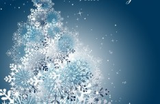 Winter Snowflake Background Vector 03