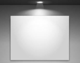 Blank Showcase with Spotlight Vector Mockup 01