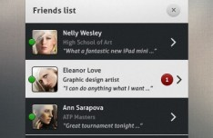 Dark and Grey Friend List UI PSD