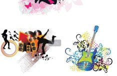 Music Themed Poster Background Vector