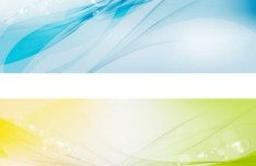 Set Of Vector Colored Halos and Abstract Curves Backgrounds 01