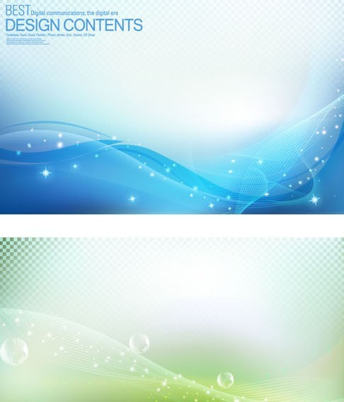 Set Of Vector Colored Halos and Abstract Curves Backgrounds 02