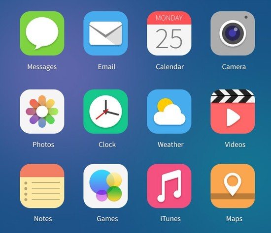 iOS 7 Beta 2 App Icons PSD