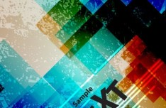 Colored Abstract Geometry Background Vector 04