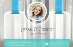 Creative Card-Like User Profile Widget PSD