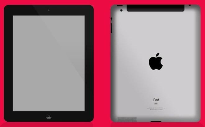 Dark iPad PSD Mockup