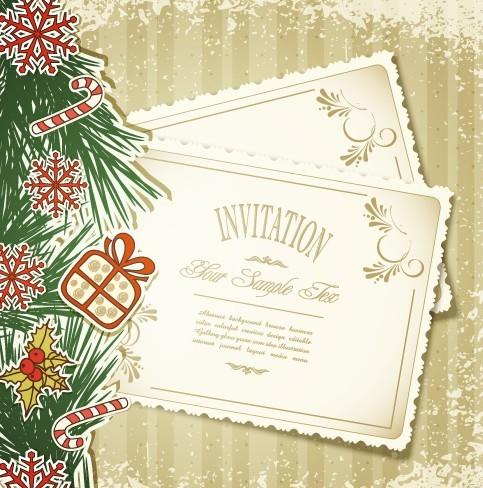 Free vintage merry christmas invitation card ornaments vector 05 vintage merry christmas invitation card ornaments vector 05 stopboris Image collections