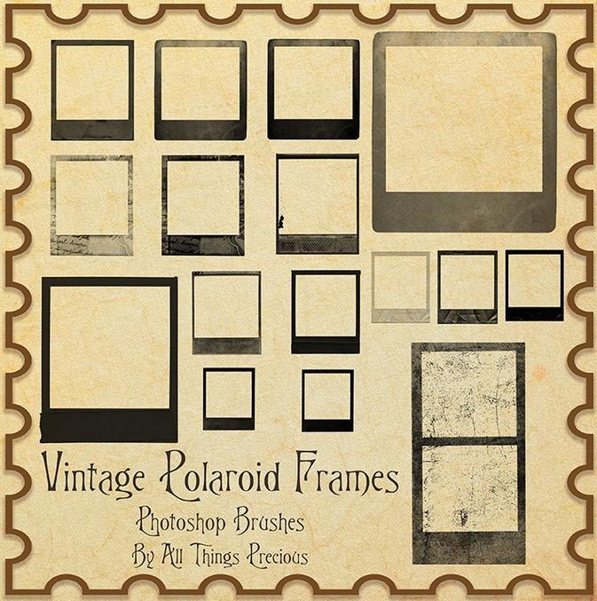 30 Cool PSD Templates To Enhance Photos | Web & Graphic ... |Old Polaroid Photoshop