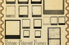 Vintage Polaroid Frames Photoshop Brushes