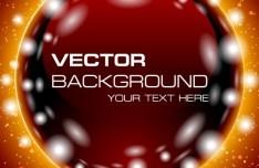 Bright Sphere Festive Background Vector 02