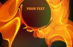 Orange Abstract Fire Background Vector