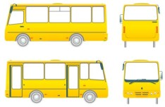 Set Of Vector Tour Bus Illustrations 01