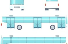 Set Of Vector Tour Bus Illustrations 03