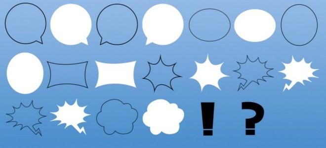 Simple Speech Bubbles Photoshop Brushes