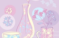 Clean Illustration Of Fresh Floral and Flowers