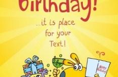 Cute Cartoon Animal Illustration For Happy Birthday Vector 02
