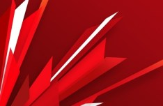 Red Abstract Burst Background