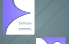 Vector Modern Card Template For Business Card and Brochure 02