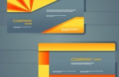 Vector Modern Card Template For Business Card and Brochure 04