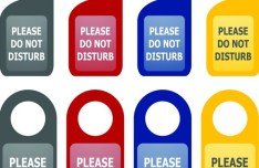 Set Of Vector Do Not Disturb Hang Tags