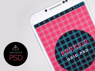 Android UI With Grid Templates PSD
