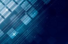Dark Blue Abstract Blocks Background Vector