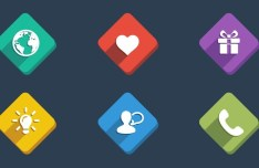 Semi Rounded Web Icons PSD