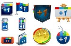 Creative Google Plus Icons Vector