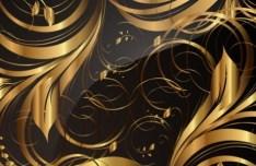 Gorgeous Golden Floral Pattern Vector 01