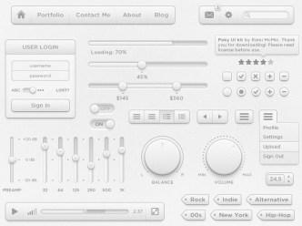 Poky - Gray Web UI Kit PSD
