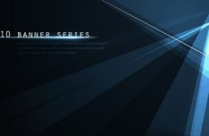 Set Of Blue Abstract Rays Backgrounds Vector