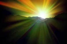 Vector Sunrise Landscape Illustration 02