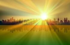 Vector Sunrise Landscape Illustration 03