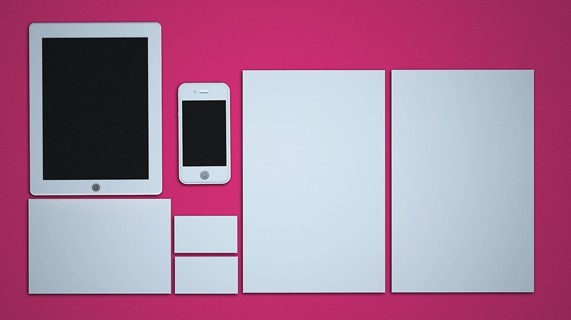 White Corporate Identity & Branding PSD Mockup