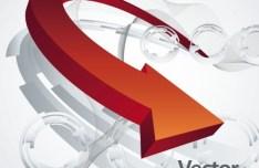 3D Abstract Arrow Background Vector 01