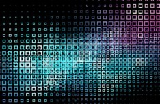 Abstract Blocks with Neon Lights Background Vector