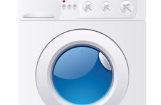 Washing Machine With Clothes Vector
